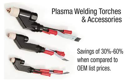 Plasma Welding Torches and accessories