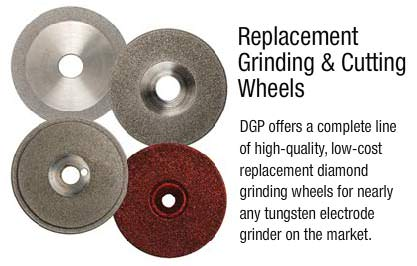 Replacement welding electrode grinding & cutting wheels